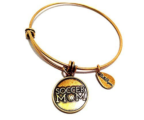 Bella Ryann Gold Soccer Mom Charm Bangle Bracelet