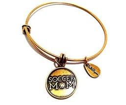 Bella Ryann Gold Soccer Mom Charm Bangle Bracelet