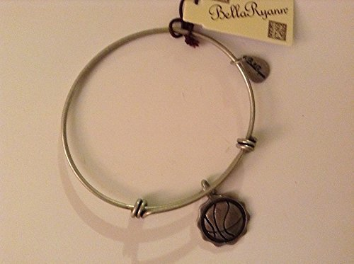 Bella Ryann Basketball Silver Charm Bangle Bracelet