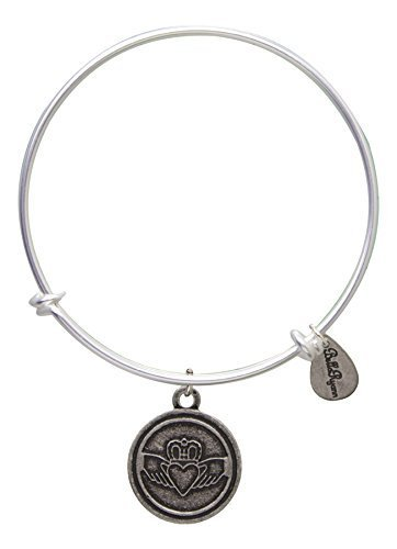 Bella Ryann Claddagh Bangle Bracelet (silver-plated-base)