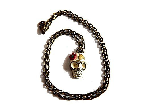 Day of the Dead Skull Necklace - Vanilla