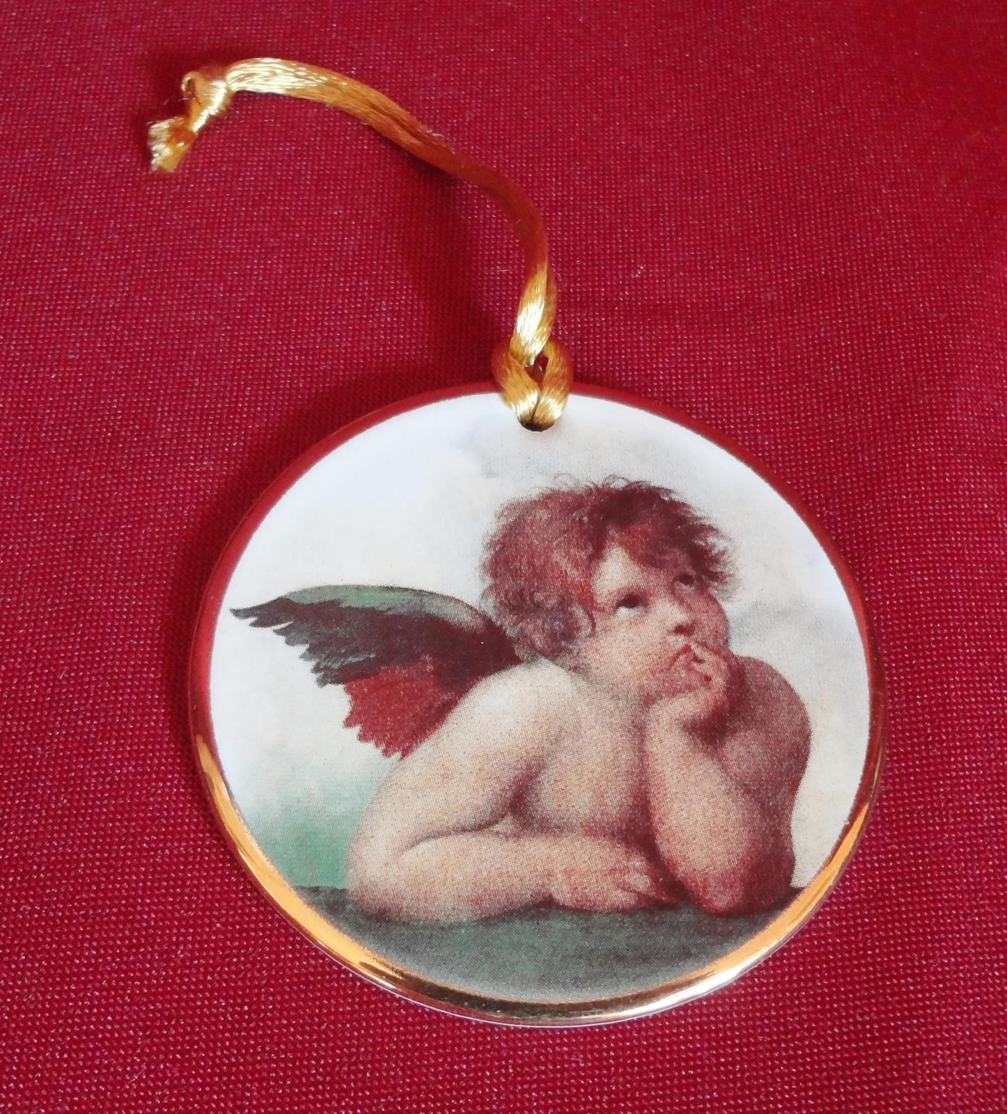 Christmas Ornament Sistine Madonna Angel Cherubim Raphael