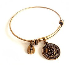 Bella Ryann St. Anthony Guide Me Gold Charm Bangle Bracelet