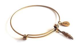Bella Ryann Feather Gold Charm Bangle Bracelet