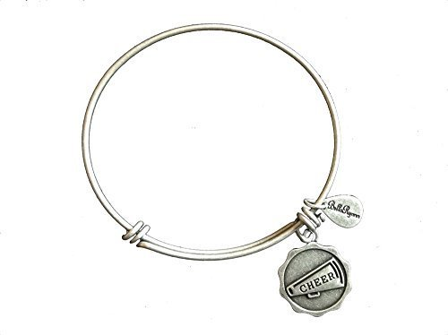 Bella Ryann Cheer Silver Charm Bangle Bracelet