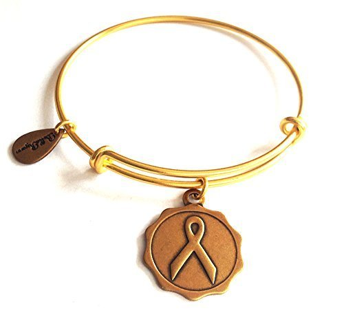 Bella Ryann Awareness Ribbon Gold Charm Bangle Bracelet