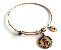 Bella Ryann Statue of Liberty Gold Charm Bangle Bracelet