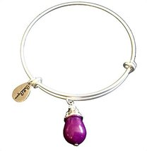 Bella Ryann February Birthstone Silver Charm Bangle Bracelet