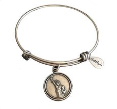 Bella Ryann Statue of Liberty Silver Charm Bangle Bracelet