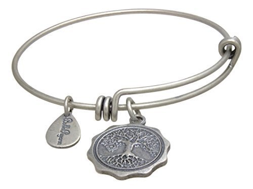 Bella Ryann Adjustable Bangle Charm Bracelet (Tree Of Life - Silver-Plated - ...