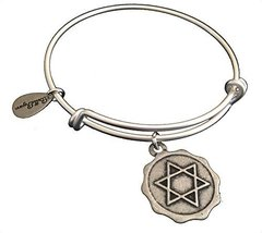 Bella Ryann Star of David Silver Charm Bangle Bracelet