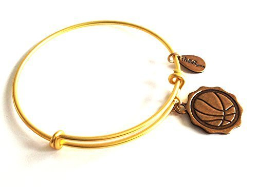 Bella Ryann Basketball Gold Charm Bangle Bracelet