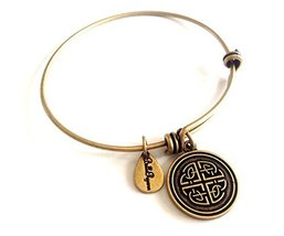 Bella Ryann Celtic Love Knot New Gold Charm Bangle Bracelet