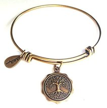 Bella Ryann Tree of Life New Gold Charm Bangle Bracelet