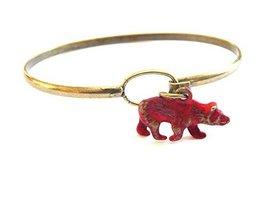 Bear Charm Bracelet (Red)