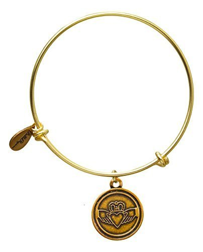 Bella Ryann Claddagh Bangle Bracelet (gold-plated-base)