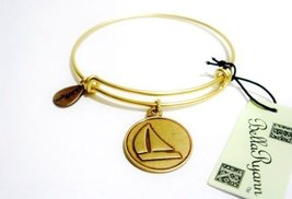 "Authentic Bella Ryann ""Sailboat"" adjustable wire bangle russian gold. (Same d..."