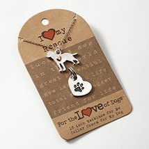 I Love My Rescue Dog Fashion Necklace