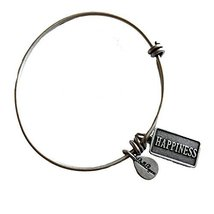 Bella Ryann Happiness Silver Charm Bangle Bracelet