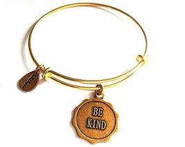 "Bella Ryann Early Edition of ""Be Kind"" Gold Charm Bangle Bracelet"
