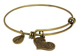 Bella Ryann Adjustable Bangle Charm Bracelet (Daughter - 22K Gold-Plated - He...