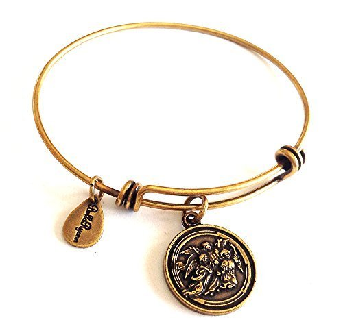Bella Ryann Guardian Angel's Gold Charm Bangle Bracelet