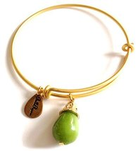 Bella Ryann Gold Plated August Birthstone Bangle Bracelet