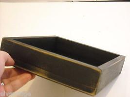 New primitive black wood stenciled block sign Secrets are safe as you get older image 7
