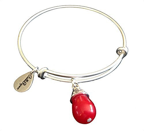 Bella Ryann January Birthstone Silver Charm Bangle Bracelet