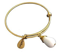 Bella Ryann Gold Plated June Birthstone Bangle Bracelet