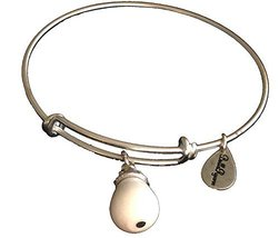 Bella Ryann June Birthstone Silver Charm Bangle Bracelet