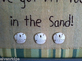 "Framed ""I've Got My Toes in the Sand"" Embroidered wall art image 6"