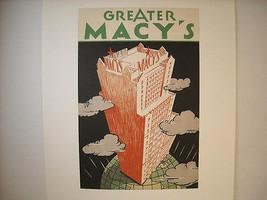Vintage New York Stadt Reproduktion für das Macy Gebäude Große Eröffnung