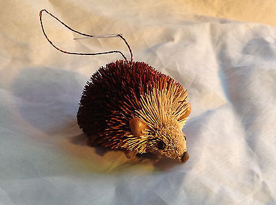 Palm Fiber Hedgehog Brush Animal Eco Fiber Sustainable Ornament