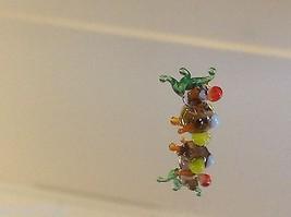 Mikro Miniatur kleiner Handgeblasener Glas Nymphensittich Hergestellt in USA Nib image 1