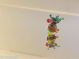 Mikro Miniatur kleiner Handgeblasener Glas Nymphensittich Hergestellt in USA Nib image 2