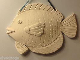 ein Unikat Zwei weiß Bisque gefeuert Fisch wandbehänge von New York Künstler image 5