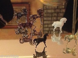 Micro Miniature Kleine Hand durchgebrannte Glas Standing Pferd In Farbwahl image 6