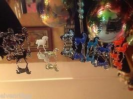 Micro Miniature Kleine Hand durchgebrannte Glas Standing Pferd In Farbwahl image 7