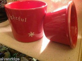 Red with snowflakes Delightful Dip Chiller 2 piece set Keeps Dips Perfect Temp image 4