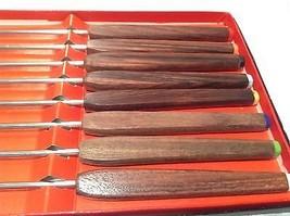 Acht Stück Fondue Spieß Set mit Holzgriffen in Schachtel Hervorragender Zustand image 4