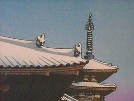 Reproduktion Vintage Woodblock Aufdruck 1951 Yakushi Temple Nava in Schnee image 3