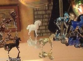 Micro Miniature Kleine Hand durchgebrannte Glas Standing Pferd In Farbwahl image 5