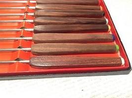 Acht Stück Fondue Spieß Set mit Holzgriffen in Schachtel Hervorragender Zustand image 5