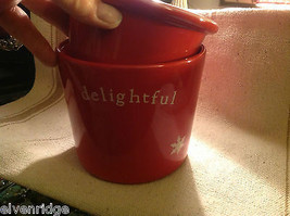 Red with snowflakes Delightful Dip Chiller 2 piece set Keeps Dips Perfect Temp image 3