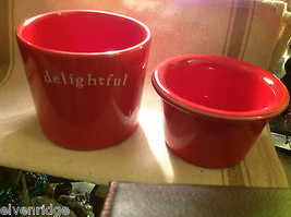 Red with snowflakes Delightful Dip Chiller 2 piece set Keeps Dips Perfect Temp image 5