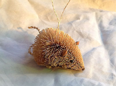 Palm Fiber Mouse Brush Animal Eco Fiber Sustainable Ornament