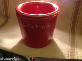 Red with snowflakes Delightful Dip Chiller 2 piece set Keeps Dips Perfect Temp image 6