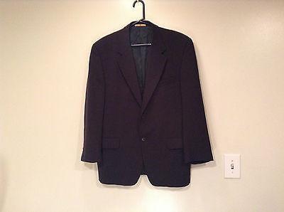 Schwarz Joseph Abboud Größe 41 Regulär Ausgekleidet Suit Jacke Blazer 100