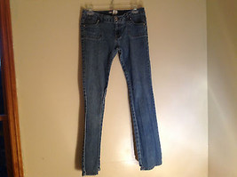 No Boundaries Juniors Rectangle Pocket Design Blue Jeans Made in China Size S l - $39.99